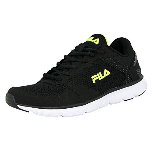Fila OBJECT RUN LOW Schwarz Running Laufschuhe Herren Sneakers Schuhe Neu (Fila Sportschuhe)