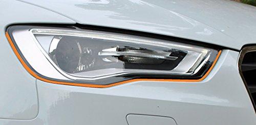 Strisce adesive per fanali Devil Eye in arancione Adatto per veicolo,