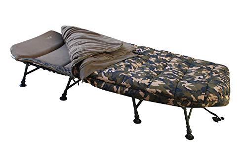 MK-Angelsport Fort Knox 8 Bein Bedchair Camo Sleeping System Schlafsack Angelliege Liege Karpfenliege
