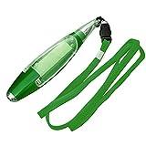 Penne a sfera 【 1PCS 】–Penna multifunzione, nuovo carino cancelleria cordino note Light Pen pen length 13cm, lanyard length 44cm Green