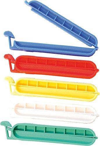 Preisvergleich Produktbild Profistar Frischhalte-Verschlüsse 5-teilig, Beutelclips, 100 mm, sortiert, A5600105SK