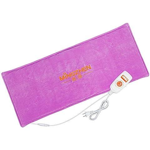Chauffage électrique Sac de chaleur de sel de mer naturel - Sac de moxibustion électrique Sac de physiothérapie de palais chaleureux - Massage de santé à la taille et à la jambe , purple