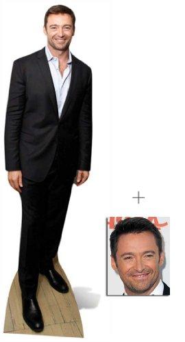 Hugh Jackman Lebensgrosse Pappfiguren / Stehplatzinhaber / Aufsteller - Enthält 8X10 (25X20Cm) starfoto