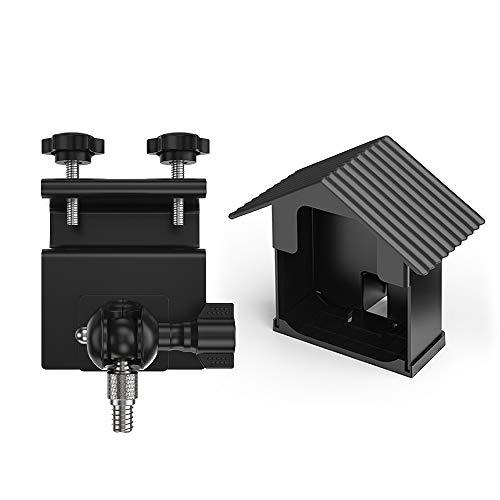 Festnight Dachrinnenhalterung Schutzverstellbare Halterung mit wetterfester Abdeckung für Innen- und Außenbereich für Blink XT-Kamera Blendschutz gegen UV-Strahlen (Abdeckung Wetterfester)