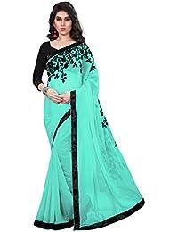 Tread India Chiffon Saree (Tread-Z_Light Blue_Light Blue)
