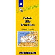 Carte routière : Calais - Lille - Bruxelles, 51, 1/200000