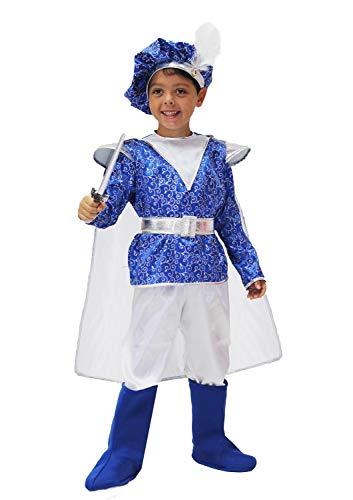 Pegasus Vestito Costume Maschera di Carnevale Bimbo - Principe Azzurro Royal - Taglia 7/8 Anni - 107 cm