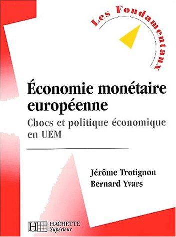 Economie monétaire européenne : Chocs et politique économique en UEM