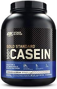 Optimum Nutrition Gold Standard 100% Casein Cookies & Cream, 4 lb, Packaging May