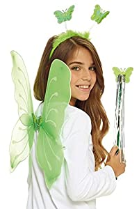AEC-set mariposa verde, Unisex infantil, aq05623, talla única