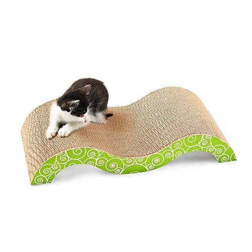 K-Y YKK Tablero del Rasguño De Gato, M-Shaped Curvo Afilador De Uñas De Dedos De Gato Papel Corrugado Cojín del Pie del Gato Juguete para Mascotas
