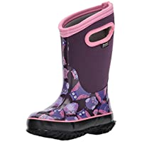 Bogs Classic High Waterproof Insulated Rubber Neoprene Rain Boot Snow, Owl Print/Purple/Multi, 6 M US Big Kid
