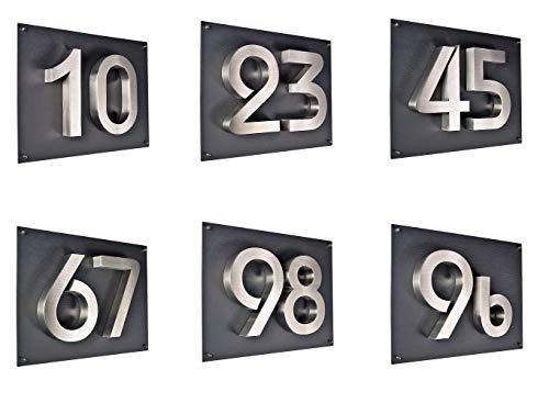 Designer Briefkasten / Mailbox / Modell 334ADS anthrazit RAL7016 – Deckel in Edelstahl mit Sichtfenster und Zeitungsfach / NUR 1 x VERSANDKOSTEN FÜR ALLE BESTELLUNGEN ZUSAMMEN ! - 9