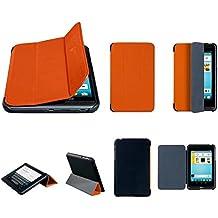 """Original Trekstor Design tolino tab 7"""" Flex-Case Schutzhülle Tablet Tasche mit Standfunktion Orange/Schwarz"""