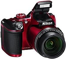 "Nikon Coolpix B500 Fotocamera Digitale Compatta, 16 Megapixel, Zoom 40X, VR, LCD Inclinabile 3"", Full HD, Bluetooth, Wi-Fi, Rosso [Nital Card: 4 Anni di Garanzia]"
