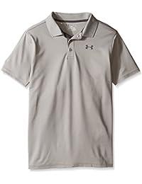Under Armour Performance Camisa de Manga Corta de Golf, Niños, Gris, YXL