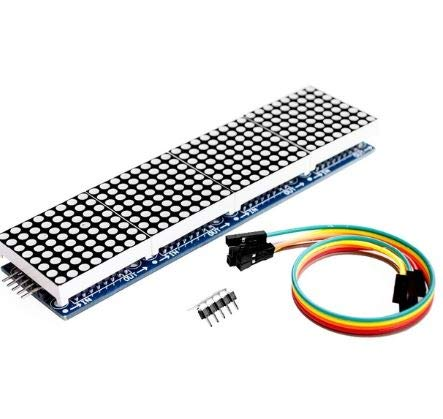 Robocraze MAX7219 Dot Led Matrix Module 4 In 1 Display with 5P Line Module For Arduino Micro-controller