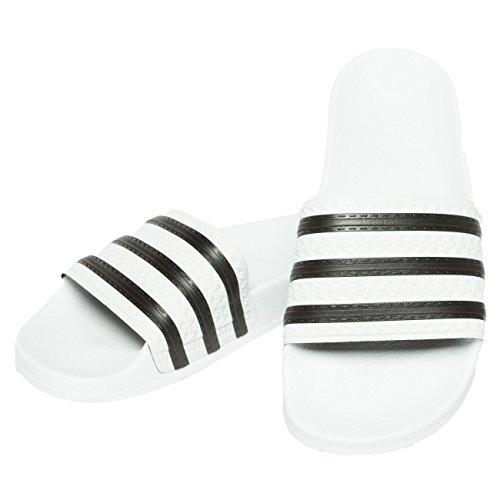 save off 79502 de33d 8. adidas Originals Badelatschen Adilette 280648 Weiß Schwarz, Schuhgröße 43