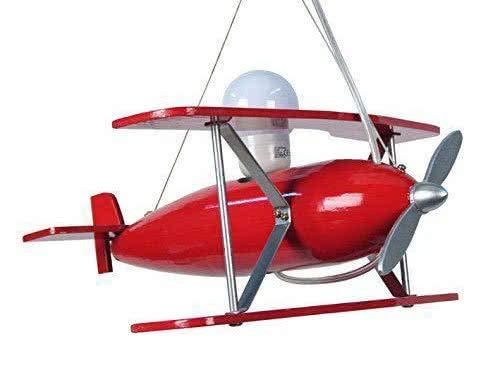 Tosel 11245Suspensión avión 100W E27, Rouge/Aluminium, E27, 100 wattsW 230 voltsV