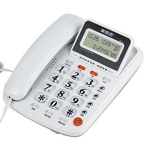 Telefon, Festnetz, Heimbüro, Alter Mann, Zielwahl, Freisprechen, Weiß, Rot, Schwarz