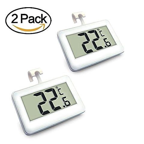 Digital Kühlschrank Thermometer Digital-LED-Kühlschrank-T-hermometer mit Magnet-hängendem Haken-Glasregal-Standplatz und Frost-Alarm