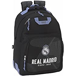 "Real Madrid ""Black"" Mochila escolar doble con cantoneras"