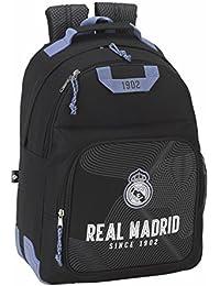 "Real Madrid ""Black"" Mochila escolar doble con cantoneras"