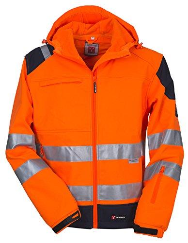 Giacca Da Lavoro Termica Tecnica Softshell Alta Visibilità Con Cappuccio Shine, Colore: Arancio Fluo, Taglia: M