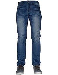 Firetrap Men's Designer' Branded Curved Leg Tapered Slim Fit Denim Jeans Soft Fabric