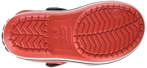 Crocs Crocband Sandalo K Ciabatte, Unisex Bambini Rosso (Flame/White)