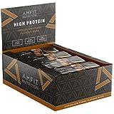 Marca Amazon- Amfit Nutrition Barrita de proteínas sabor a dulce de chocolate, pack de 12 (12x60g)