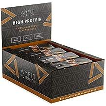 Marque Amazon- Amfit Nutrition Barre protéinée saveur fudge au chocolat, pack de 12 (12x60g)