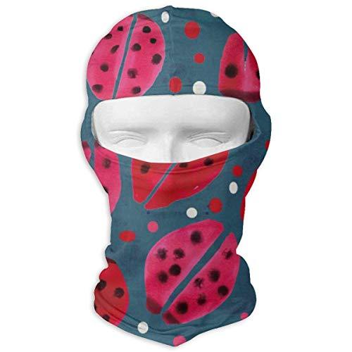 keiwiornb Balaclava Windproof Ski Mask-Red Ladybug Balaclava Face Mask Hood Outdoor Sport Hat for Ski,Cycling,Motorcycling,Climbing