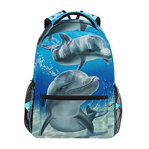 Ovilsm Rucksäcke,Schultaschen,Dolphins Velou School Backpack Lightweight Large Capacity Daypack Bookbags Travel Bag for College Student Laptop