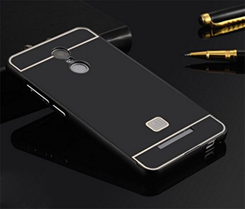 Febelo TM Branded Metal Alloy Bumper Frame Case with Acrylic Back Cover for Xiaomi Redmi Note 3 - Black Color  available at amazon for Rs.199