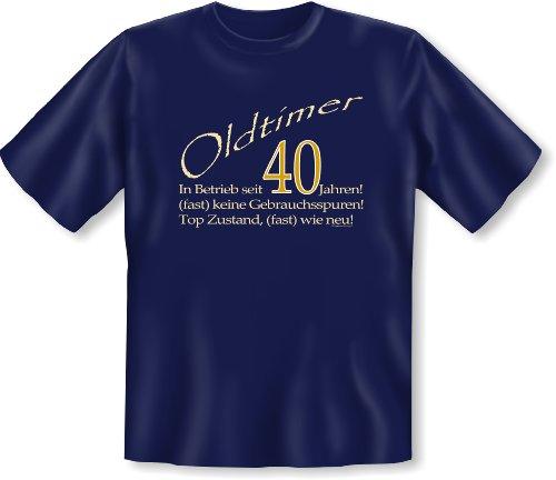 :) Cooles Funshirt zum Geburtstag: Oldtimer 40 T-Shirt ...Geschenktip! Gr: Farbe: navy-blau Navy-Blau