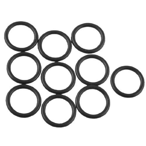 Dichtungsringe/O-Ringe, Ölfilter-Dichtringe aus Gummi, Außendurchmesser 15mm, Dicke 2mm, Schwarz, 10Stück