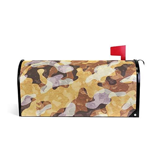 HEOEH Camouflage désert magnétique pour boîte aux Lettres Home Garden Décorations surdimensionné 64,8 x 52,8 cm 52.6x45.8cm Multicolore