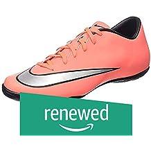 (Renewed) Nike Men's Mercurial Victory V IC Brght MNG/Mtllc Slvr/Hypr TRQ Indoor Soccer Shoe 10 Men US
