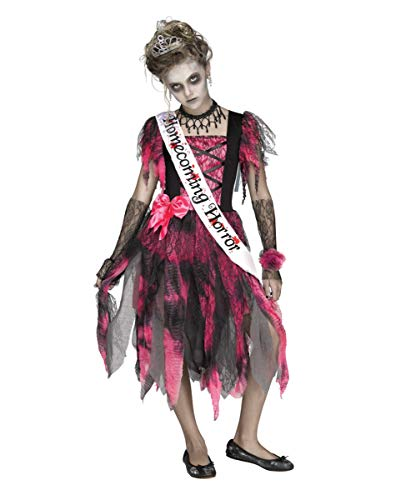Horror-Shop Homecoming Zombie Queen Kostüm für Halloween und Karneval - Homecoming Queen Kostüm