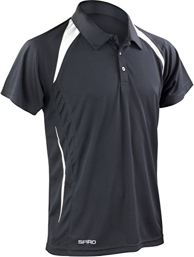 Result Cool-Dry Funktions-Poloshirt Team Spirit S177M, Farbe:Black/White;Größe:4XL