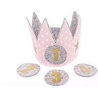 Geburtstagskrone Kinder Der Wollprinz Krone, Kinder Geburtstag-Krone Kinderkrone Geburtstagskrone Rosa