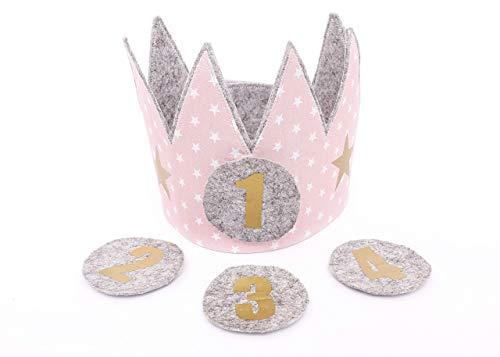 der Der Wollprinz Krone, Kinder Geburtstag-Krone Kinderkrone Geburtstagskrone Rosa ()
