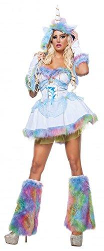 Damen-Kostüm - Fantasy Unicorn - Sexy Einhorn Fellkostüm, (Einhorn Erwachsene Kostüme Fantasy)