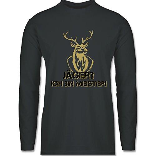 Shirtracer Après Ski - Jäger? Ich Bin Meister! - Herren Langarmshirt Dunkelgrau