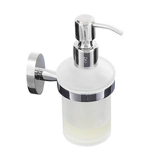CRW Soap Dispenser Wall Mounted Stainless Steel Pump Bathroom Liquid Hand  Soap Dispenser Holder Glass Bathroom Accessory 90016