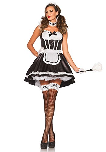 Leg Avenue 85380 - French Maid Darling Damen kostüm, Größe S/M ()