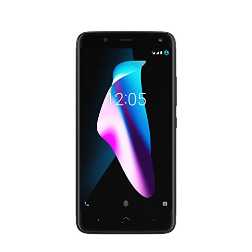 "BQ Aquaris V - Smartphone de 5.2"" (WiFi, Qualcomm Snapdragon 435 Octa Core, 2 GB de RAM, memoria interna de 16 GB, cámara de 12 MP, Android 7.1.2 Nougat), Negro (Deep black)"