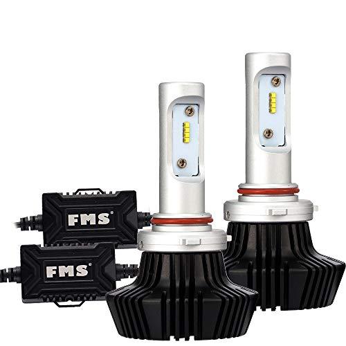 FMS 9005 HB3 9006 HB4 Scheinwerfer Autoscheinwerfer Kit 80W mit Luftfahrt Aluminium DC 12-24V 8000Lm 6500K, Kein CANBUS (9005/HB3)