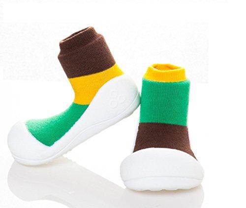Together attipas brown aT03 pour garçon multicolore • chaussures premiers pas fille Multicolore - Multicolore